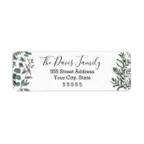Pine and Eucalyptus Return Address Label