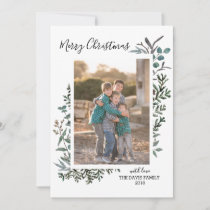 Pine and Eucalyptus Vertical Holiday Card