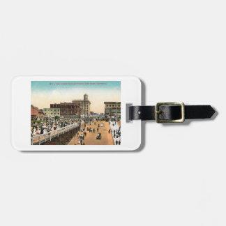 Pine Ave., Long Beach, California c1910 Vintage Travel Bag Tags