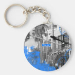 Pine Ave Sign Keychains