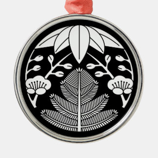 Pine bamboo ume metal ornament