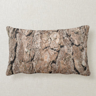 Pine bark background lumbar pillow