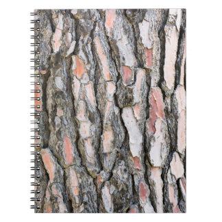 Pine bark pattern spiral notebook