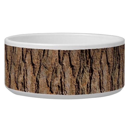 Pine Bark Pet Bowl