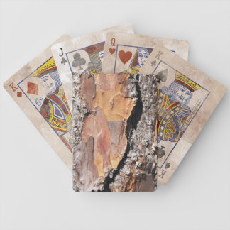 pine bark playing cards in distress