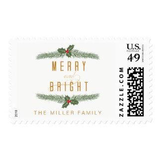 Pine & Berries, Holiday Postage