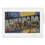 Pine Bluff, Arkansas - Large Letter Scenes Greeting Card