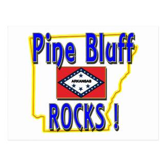 Pine Bluff Rocks ! (blue) Postcard