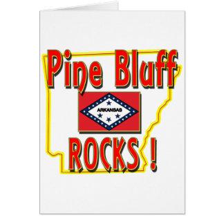 Pine Bluff Rocks ! (red) Card