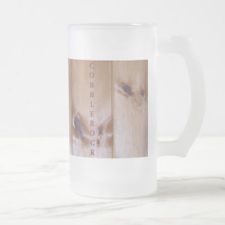PINE BOARDS ON A FROSTED MUG