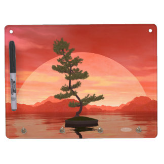 Pine bonsai - 3D render Dry Erase Board With Keychain Holder