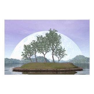 Pine bonsai - 3D render Stationery