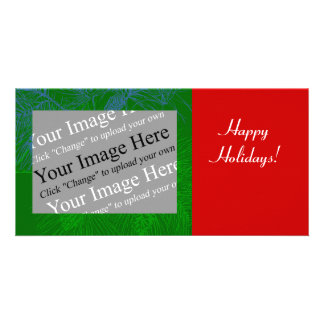 Pine Bough Personalizable Photo Card Template