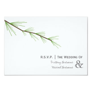 Pine Bough Wedding R.S.V.P. Card
