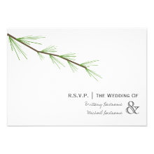 Pine Bough Wedding R.S.V.P. Invitations