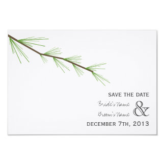 Pine Bough Wedding Save The Date Card