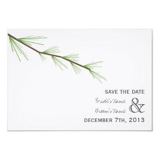 Pine Bough Wedding Save The Date Custom Invitations