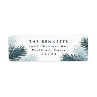 Pine Boughs Christmas Return Address Label