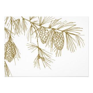 Pine Boughs Invitation