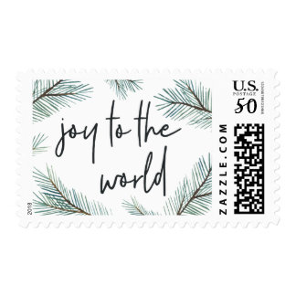 Pine Boughs | Joy to the World Holiday Postage