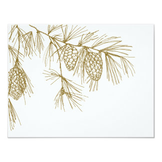 Pine Boughs RSVP 4.25x5.5 Paper Invitation Card