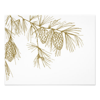 Pine Boughs RSVP Personalized Invites
