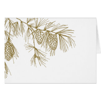 Pine Boughs Thank You Card