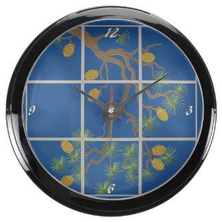 Pine Branch Aqua Clock