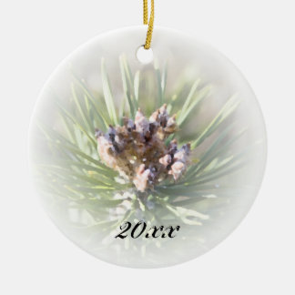 Pine Branch Dated Ornament