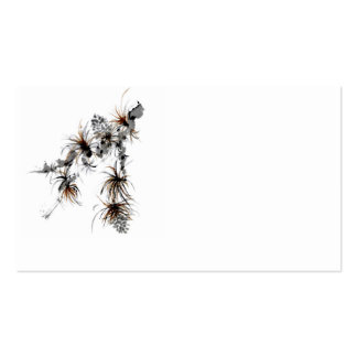 Pine Branch, Sumi-e Business Card Template