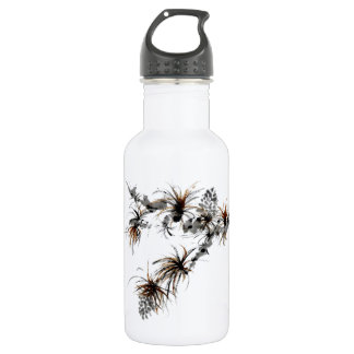 Pine Branch, Sumi-e Stainless Steel Water Bottle