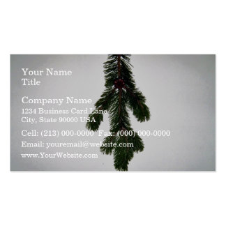 Pine Branch Texture Business Cards