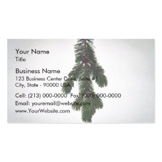Pine Branch Texture Business Card Templates