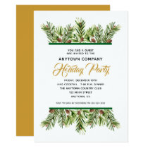 Pine Branches | Corporate Holiday Christmas Party Invitation