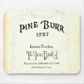 Pine Burr yearbook 1927 Mouse Pad