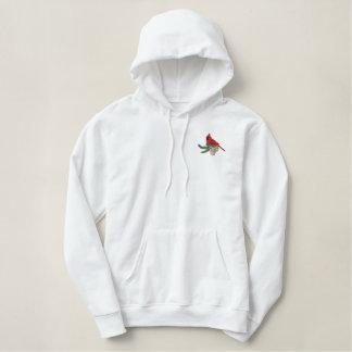 Pine Cardinal Embroidered Hoodie