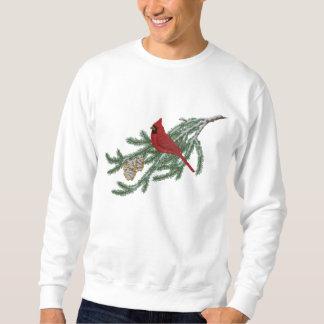 Pine Cardinal Embroidered Sweatshirt