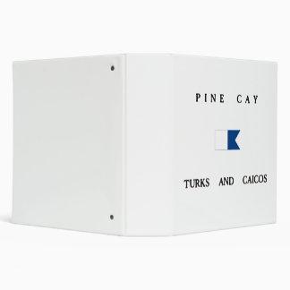 Pine Cay Turks and Caicos Alpha Dive Flag Vinyl Binders
