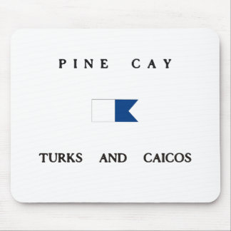 Pine Cay Turks and Caicos Alpha Dive Flag Mousepads