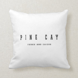 Pine Cay Turks and Caicos Throw Pillow