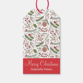 Pine Christmas Birds | Gift Tags