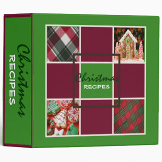 Pine Christmas Recipes Binder