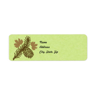 Pine Cone Address Label Template