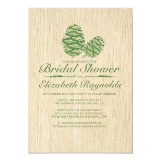 Pine Cone Bridal Shower Invitations Invites