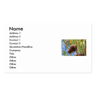 Pine Cone Business Card
