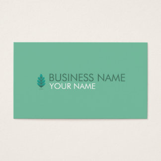 PINE CONE BUSINESS CARD PASTEL TURQUOISE