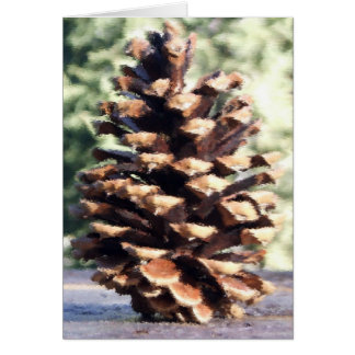 Pine Cone Card, Blank