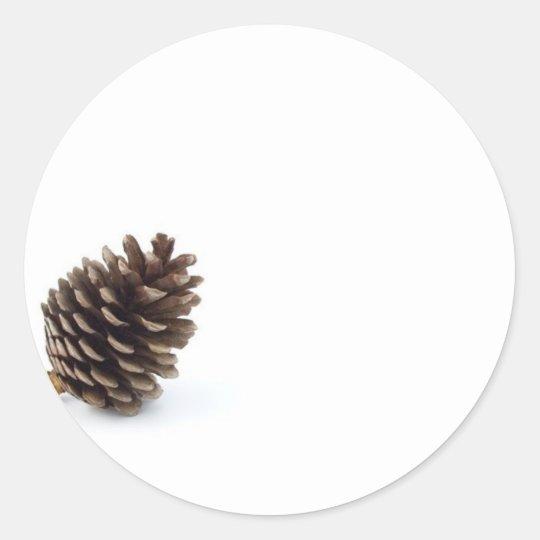 Pine Cone Classic Round Sticker