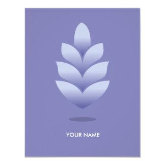 PINE CONE COMPLIMENT CARD PASTEL PURPLE