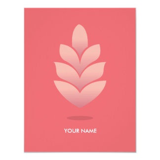 PINE CONE COMPLIMENT CARD PASTEL STRAWBERRY